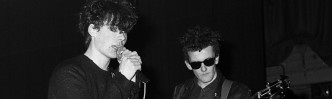 Mandatory Credit: Photo by STEVE CALLAGHAN/REX (329168a)  THE REID BROTHERS DURING A JESUS AND MARY CHAIN CONCERT AT NORTH LONDON POLYTECHNIC IN MARCH 1985 WHERE A RIOT BROKE OUT - BRITAIN - BRITAIN  A JESUS AND MARY CHAIN CONCERT AT NORTH LONDON POLYTECHNIC IN MARCH 1985 WHERE A RIOT BROKE OUT - BRITAIN
